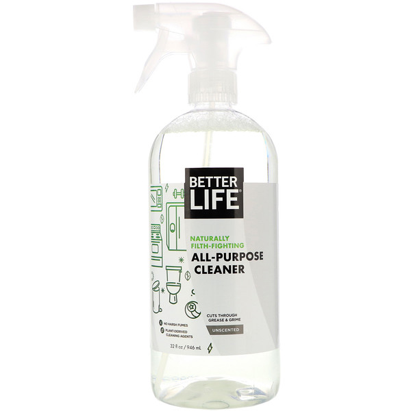 Better Life, Limpiador Multiuso, Sin fragancia, 32 fl oz (946 ml)