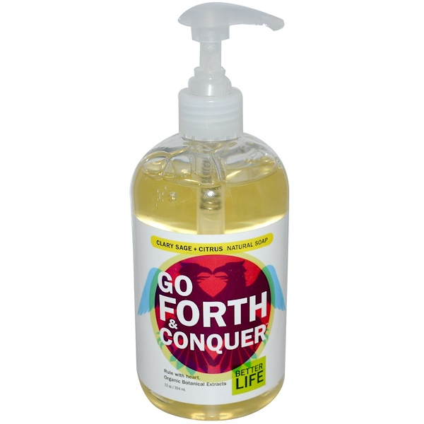 Better Life, Go Forth & Conquer, Clary Sage + Citrus Natural Soap, 12 oz (354 ml) (Discontinued Item)