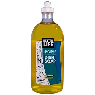 Better Life, Dish Soap, Lemon Mint, 22 fl oz (651 ml)