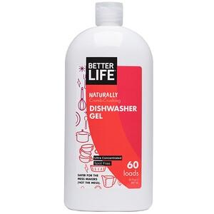 Беттер Лайф, Naturally Crumb-Crushing Dishwasher Gel, Fragrance Free, 60 Loads, 30 oz (887 ml) отзывы покупателей