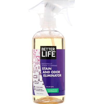 Купить Чистящее средство от пятен и запаха, эвкалипт и лемонграсс, 16 жидких унций (473 мл)