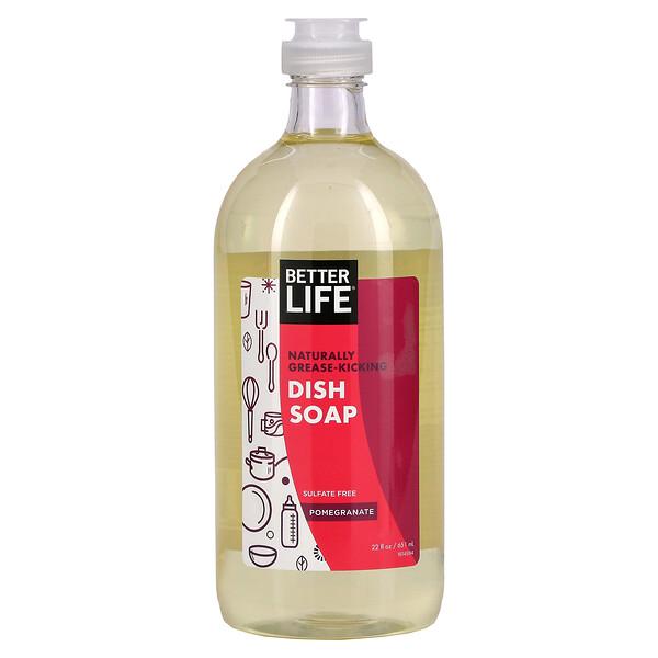 Better Life, Dish Soap, Pomegranate, 22 fl oz (651 ml)