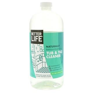 Better Life, Limpiador de baño para bañera y azulejos natural, árbol de té y eucalipto, 32 fl oz (946 ml)