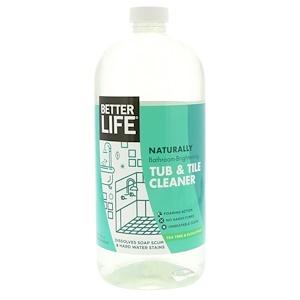 Беттер Лайф, Naturally Bathroom Brightening Tub & Tile Cleaner, Tea Tree & Eucalyptus, 32 fl oz (946 ml) отзывы