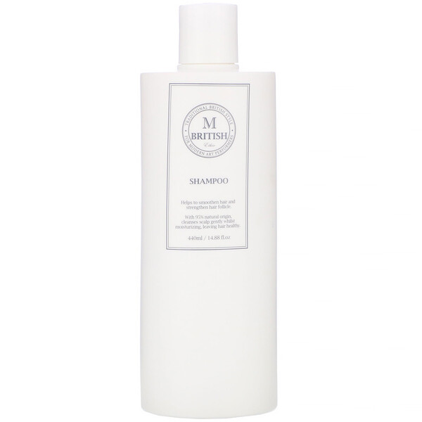 British M, Ethic, Shampoo, 14.88 fl oz (440 ml)