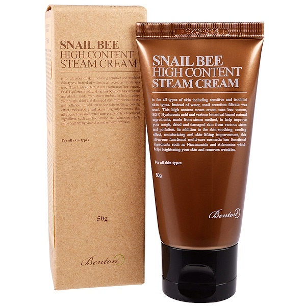 Benton, Snail Bee High Content Steam Cream, 50 g (Discontinued Item)