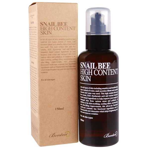 Benton, Snail Bee, High Content Skin, 150 ml (Discontinued Item)