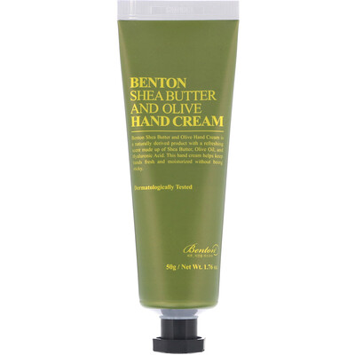 Benton Shea Butter and Olive, Hand Cream, 1.76 oz (50 g)