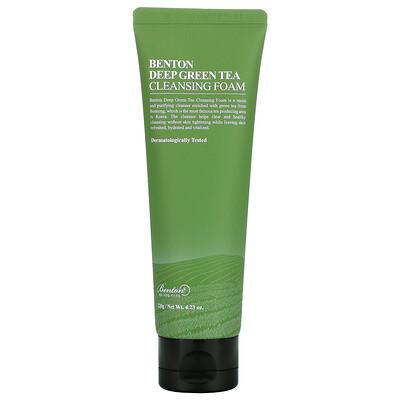 Купить Benton Deep Green Tea Cleansing Foam, 4.23 oz (120 g)