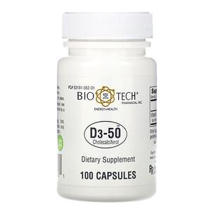 Био Тех Фармакал, D3-50, Cholecalciferol, 100 Capsules отзывы