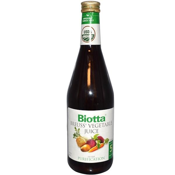 Biotta, Organic Breuss Vegetable Juice, 16.9 fl oz (500 ml) (Discontinued Item)