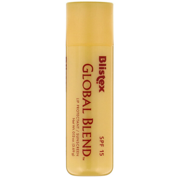 Global Blend, Lip Protectant/Sunscreen, SPF 15, 0.13 oz (3.69 g)