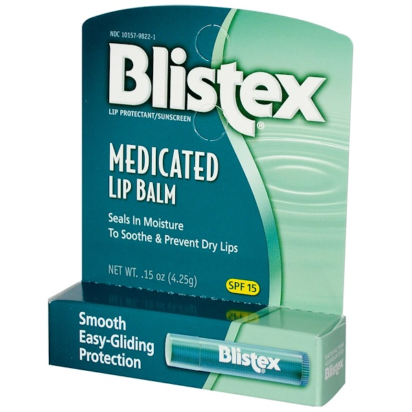 Blistex, Medicated Lip Balm, Lip Protectant/Sunscreen, SPF 15, .15 oz (4.25 g)