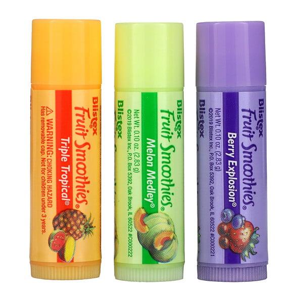 Lip Moisturizer, Fruit Smoothies, 3 Sticks, .10 oz (2.83 g) Each