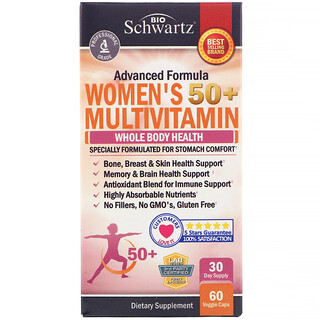 BioSchwartz, Suplemento multivitamínico de fórmula avanzada para mujeres de más de 50años, 60cápsulas vegetales
