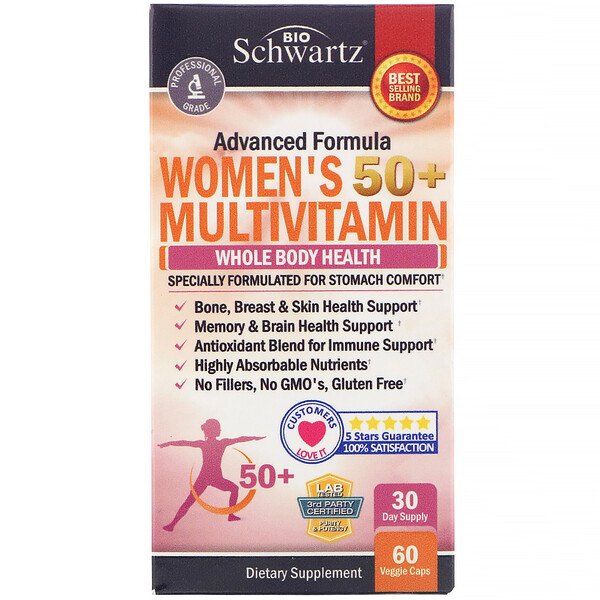 Advanced Formula Women's 50+ Multivitamin, 60 Veggie Caps