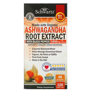 BioSchwartz, Ashwagandha Root Extract, 650 mg, 120 Veggie Caps