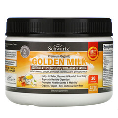 BioSchwartz, 有機黃金奶,含姜黃、姜、肉桂、南非醉茄和椰奶,3.7 盎司(105 克)