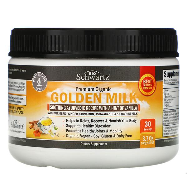 BioSchwartz, Premium Organic Golden Milk, 3.7 oz (105 g)