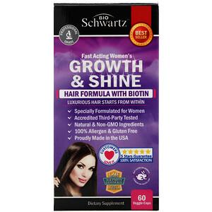 BioSchwartz, Fast Acting Women's Growth & Shine, Hair Formula with Biotin, 60 Veggie Caps отзывы покупателей
