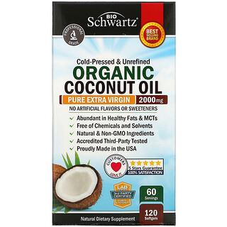 BioSchwartz, Organic Coconut Oil, 1,000 mg , 120 Softgels