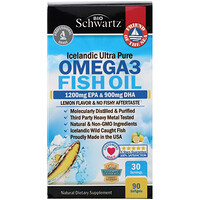 Omega 3 Fish Oil, Lemon Flavor, 1200 mg EPA & 900 mg DHA, 90 Softgels - фото
