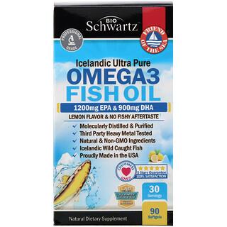 BioSchwartz, Omega 3 Fish Oil, Lemon Flavor, 90 Softgels