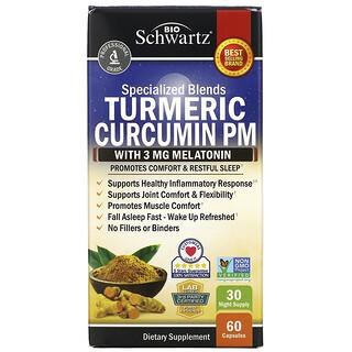 BioSchwartz, Turmeric Curcumin PM with Melatonin, 60 Capsules