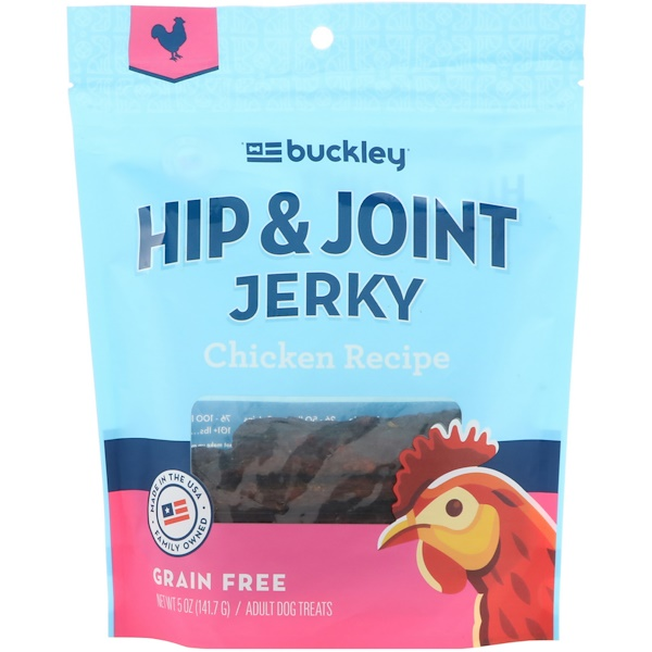 Buckley, Hip & Joint Jerky, Adult Dog Treats, Chicken Recipe, 5 oz (141.7 g) (Discontinued Item)