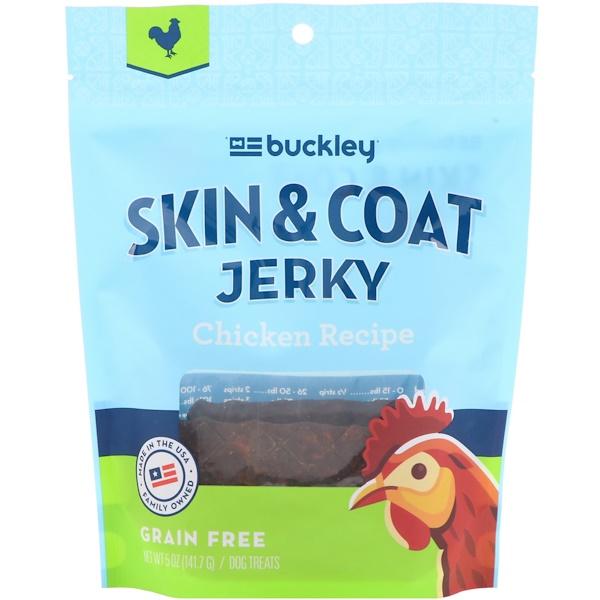Buckley, Skin & Coat Jerky, Dog Treats, Chicken, 5 oz (141.7 g) (Discontinued Item)