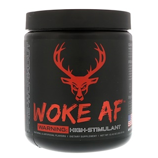Bucked Up, Woke AF, Pre-Workout, Blood Raz, 12.43 oz (352.53 g)