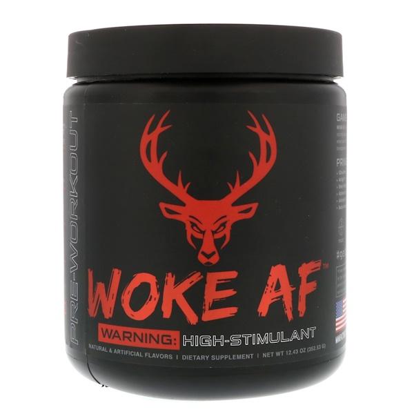 Bucked Up, WOKE AF, Pre-Workout, Blood Raz, 12.43 oz (352.53 g) (Discontinued Item)