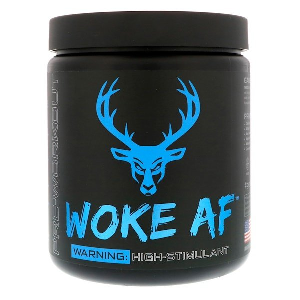 Bucked Up, WOKE AF, Pre-Workout, Blue Raz, 12.61 oz (357.6 g) (Discontinued Item)