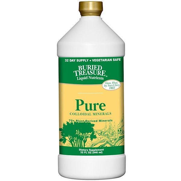 Buried Treasure, Liquid Nutrients, Pure Colloidal Minerals, 32 fl oz (946 ml)