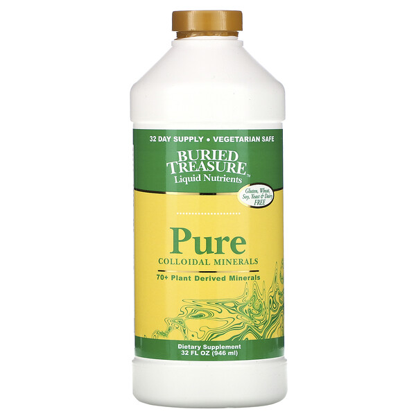 Liquid Nutrients, Pure Colloidal Minerals, 32 fl oz (946 ml)