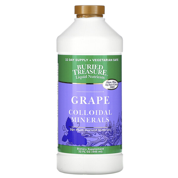 Liquid Nutrients, Colloidal Minerals, Grape, 32 fl oz (946 ml)