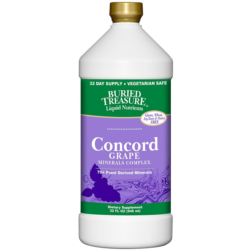 Liquid Nutrients, 70+ Plant Derived Minerals, Concord Grape, 32 fl oz (946 ml)