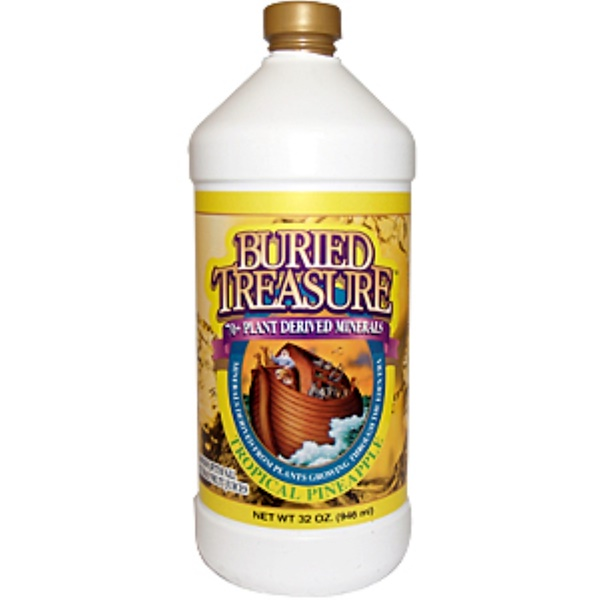 Buried Treasure, 70+ Plant Derived Minerals, Tropical Pineapple, 32 oz (946) ml (Discontinued Item)