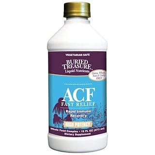 Buried Treasure, Liquid Nutrients, ACF Fast Relief, Immune Support, 16 fl oz (473 ml)