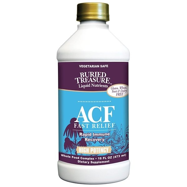 Buried Treasure, Liquid Nutrients, ACF Fast Relief, Immune Support, 16 fl oz (473 ml) (Discontinued Item)