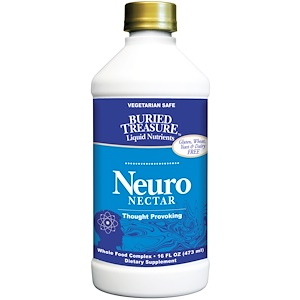 Бэрид Трежер, Liquid Nutrients, Neuro-Nectar, 16 fl oz (473 ml) отзывы
