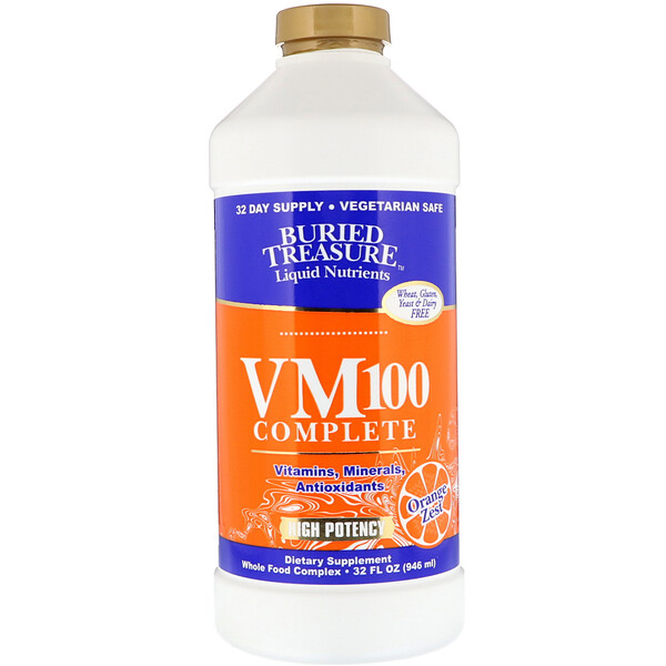 Buried Treasure, Liquid Nutrients, VM100 Complete, Orange Zest, 32 fl oz (946 ml)