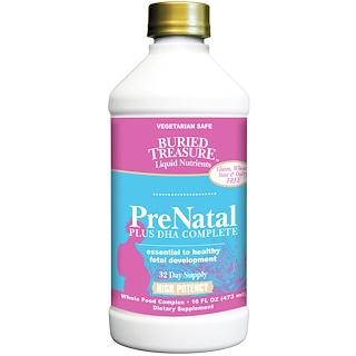 Buried Treasure, Nutritionals, PreNatal Plus DHA Completo, 473 ml (16 fl oz)