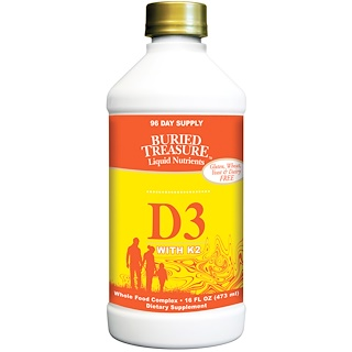 Buried Treasure, Liquid D3, con K2, 16 fl oz (473 ml)