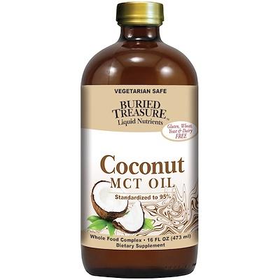 Купить Жидкие питательные вещества, кокосовое масло, 16 жидких унций (473 мл)