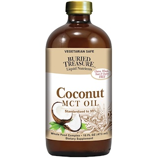 Buried Treasure, Liquid Nutrients, Aceite de Coco, 16 fl oz (473 ml)