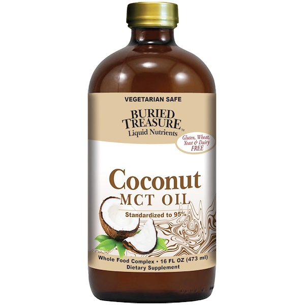 Buried Treasure, Liquid Nutrients, nutriments liquides, huile de noix de coco, 473 ml.