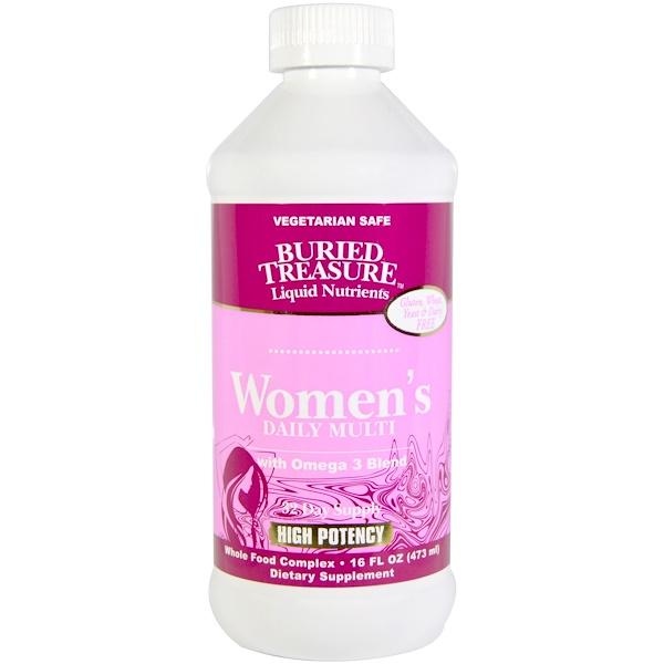 Buried Treasure, Women's Daily Multi, High Potency, 16 fl oz (473 ml) (Discontinued Item)