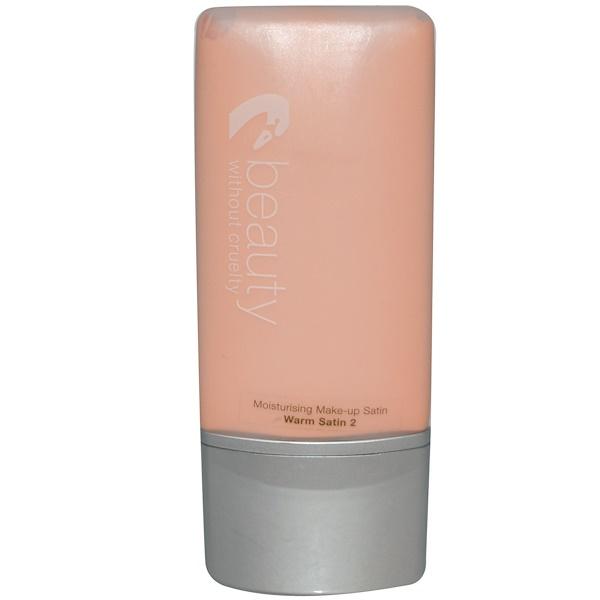 Beauty Without Cruelty, Moisturizing Make-Up Satin, Warm Satin 2, 1.1 fl oz (30 ml) (Discontinued Item)