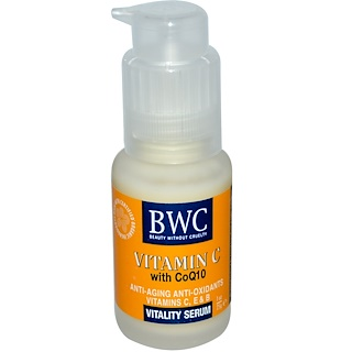 Beauty Without Cruelty, Vitamina C, con CoQ10, Suero para la vitalidad, 1 oz (25 g)